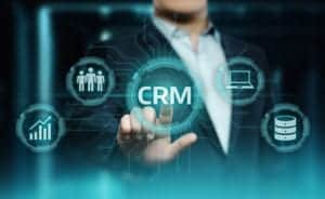 Person choosing the right CRM software for their company.