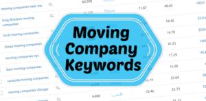 Moving company keywords on an image